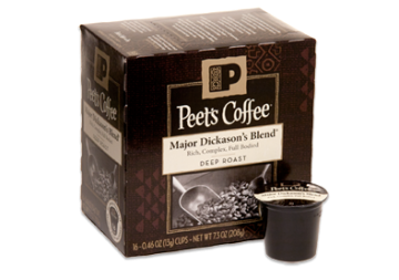 Free sample of Peet's Coffee Single Cups
