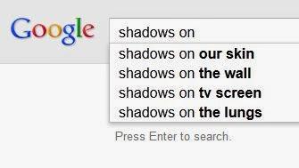 google poem shadows