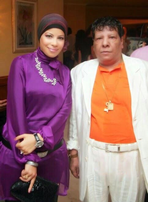 مع الفنان شعبان عبد الرحيم عام 2009