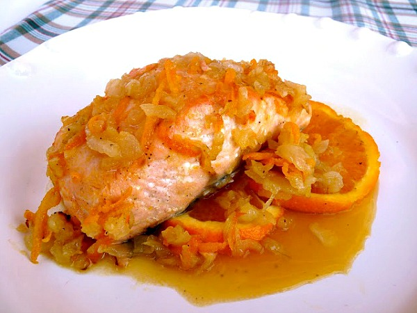 Salmon al horno cocinar en casa es - Formas de cocinar salmon ...