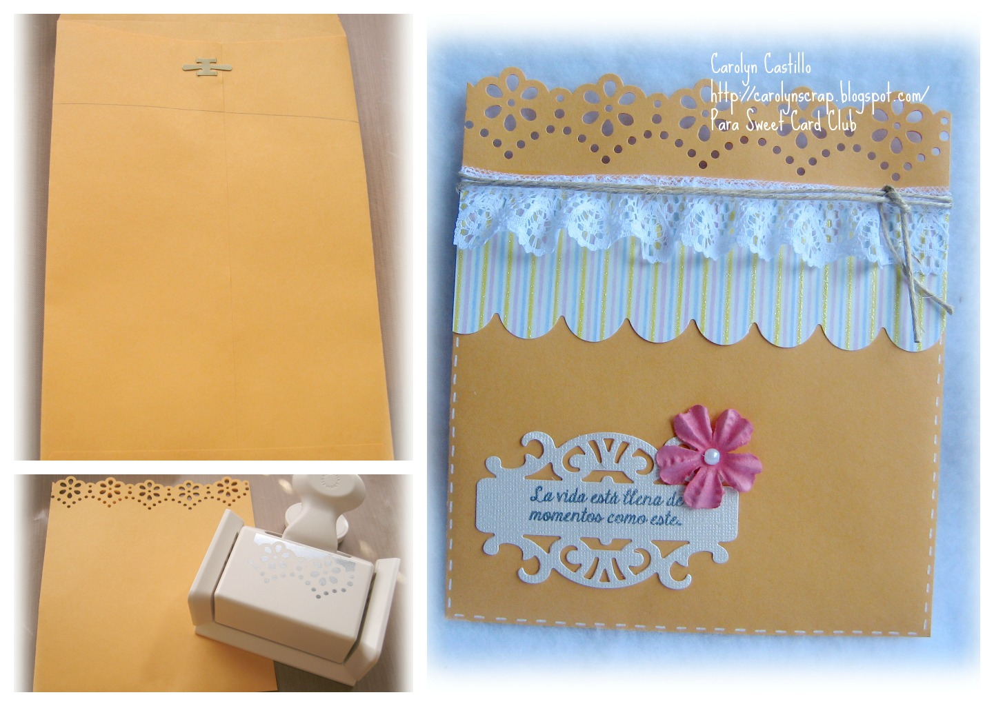 Sweet card club crea tus propios sobres - Como decorar un sobre ...