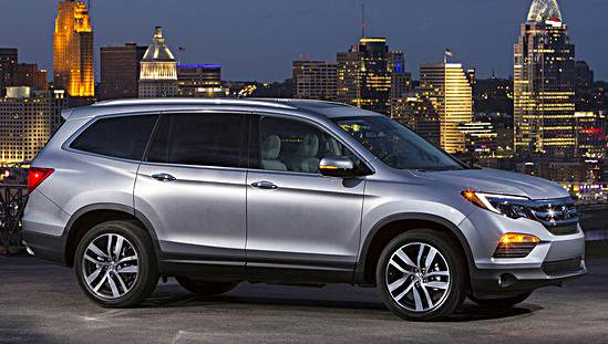 2016 honda pilot earns top safety pick plus rating auto. Black Bedroom Furniture Sets. Home Design Ideas