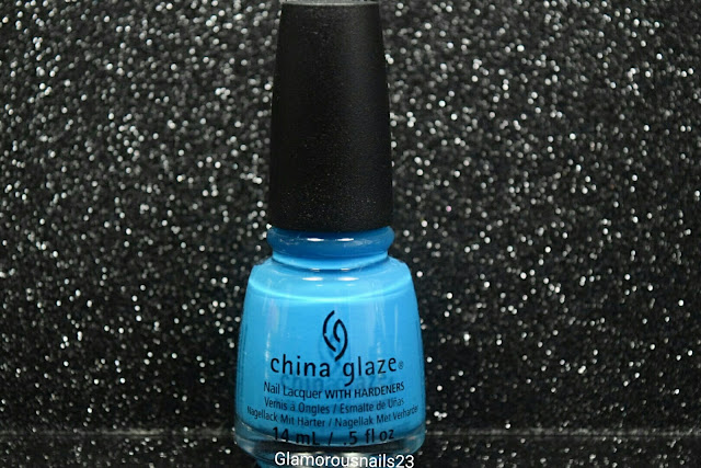 "China Glaze Electric Nights ""Dj Blue My Mind"""