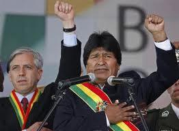 Evo y García Linera.