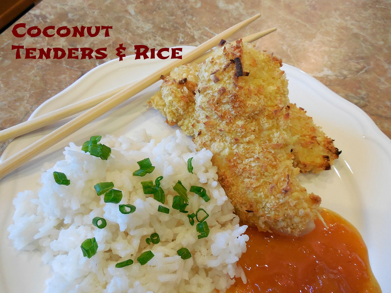 Twigs & S'mores: Coconut Chicken Tenders & Coconut Rice