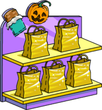5 Gold Treat Bags