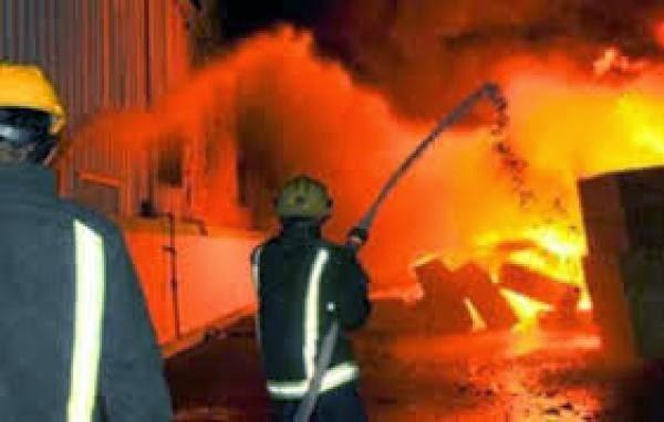 حريق مصنع موكيت