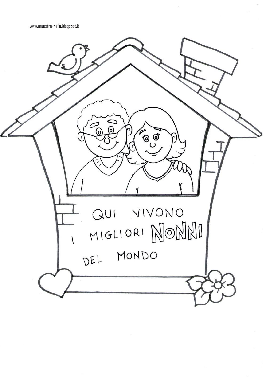 Amato maestra Nella: Festa dei nonni: quadretto da appendere! JP49
