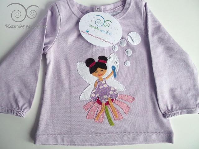 Camiseta Hada de las pompas de jabón lila