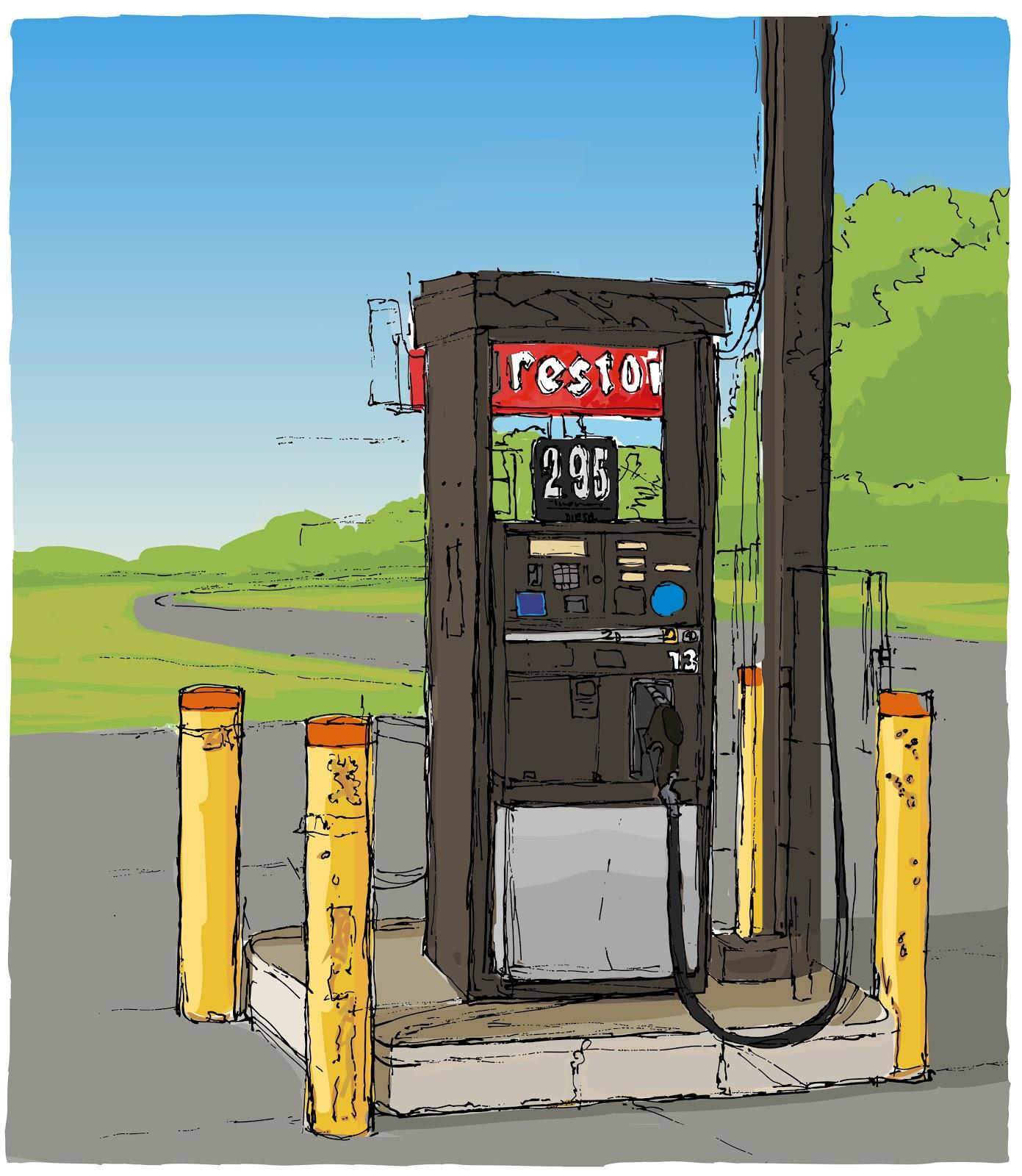 Diesel Gas Station Near Me >> Chris Breier: Gas Pump Drawing