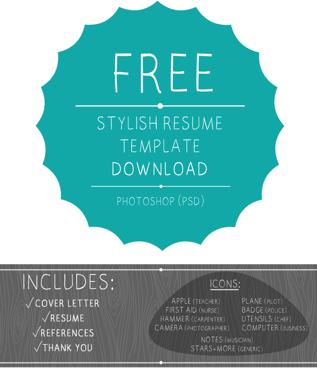 a free chic and polished photoshop resume template you - Free Resume Templates Free