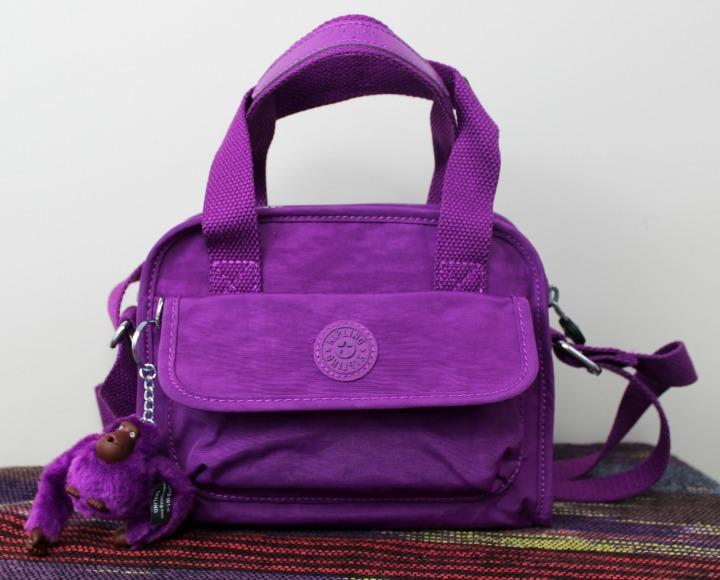 Kipling USA Star Small Handbag purple