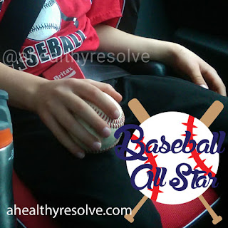 My baseball All Star with is game ball!