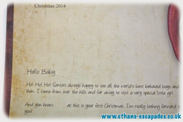 Baby's First Christmas Letter From Santa - Personalised Letters From The Lapland Mailroom
