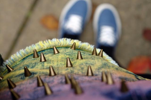 Topshop shorts jeans spikes mademoiselle-lala.com unicorn tshirt