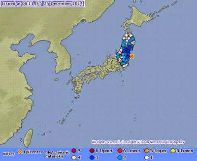 Tremor de Natal: Terremoto de 5,5 graus atinge Fukushima e região