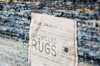 Alfombras con Jeans Reciclados, Accesorios de Decoración Reciclados