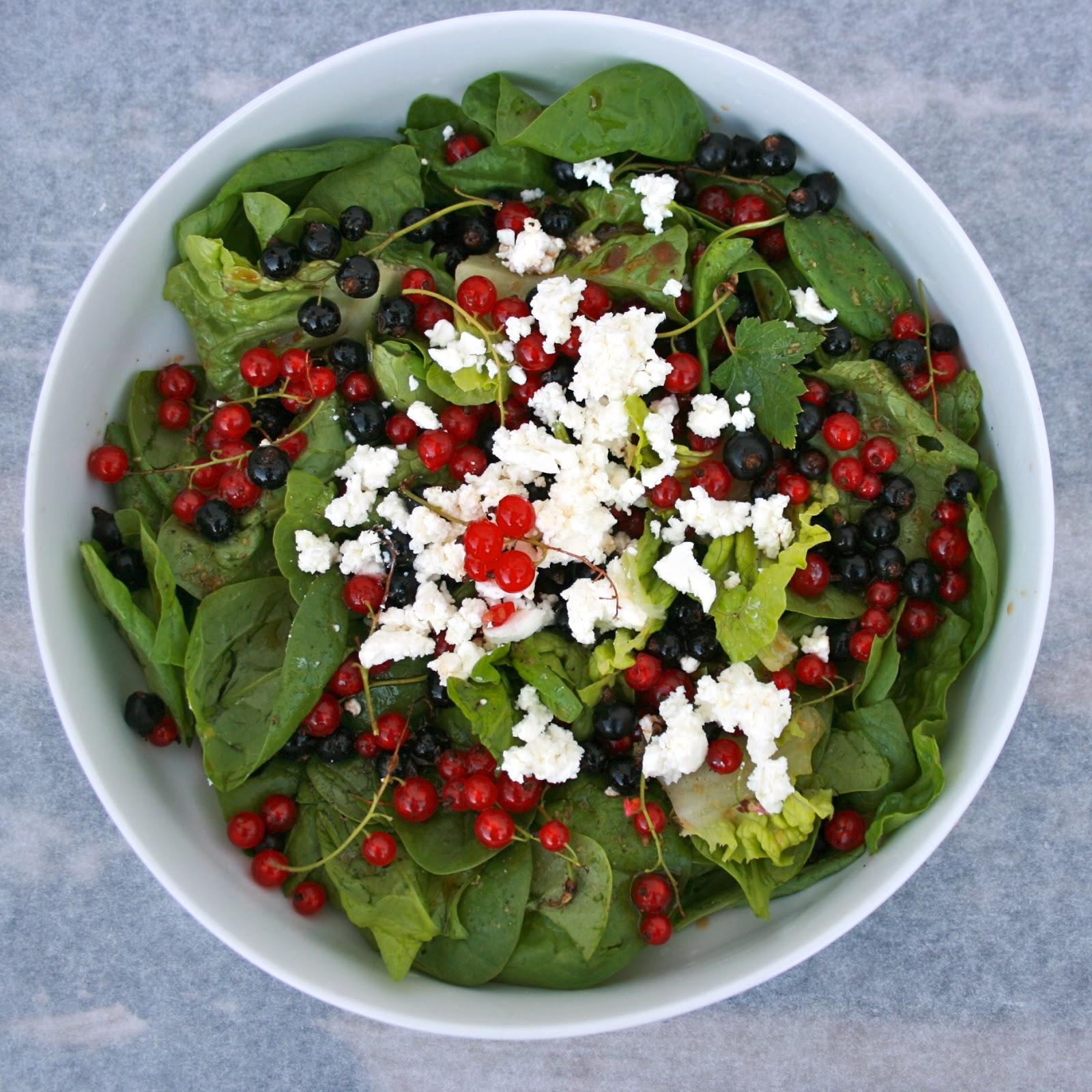 salat med solbær