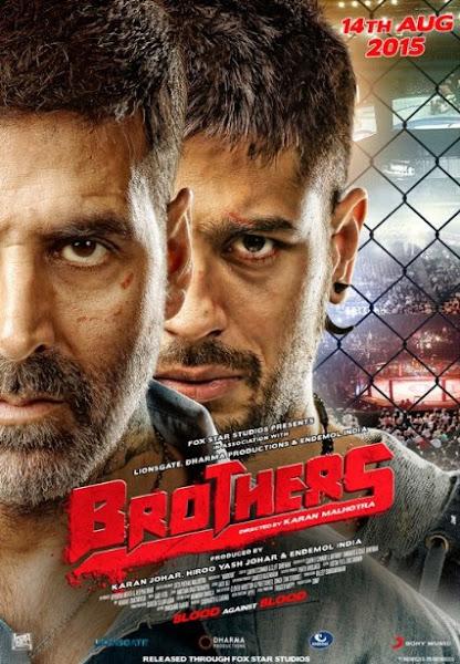 Poster Of Brothers 2015 720p BluRay Hindi