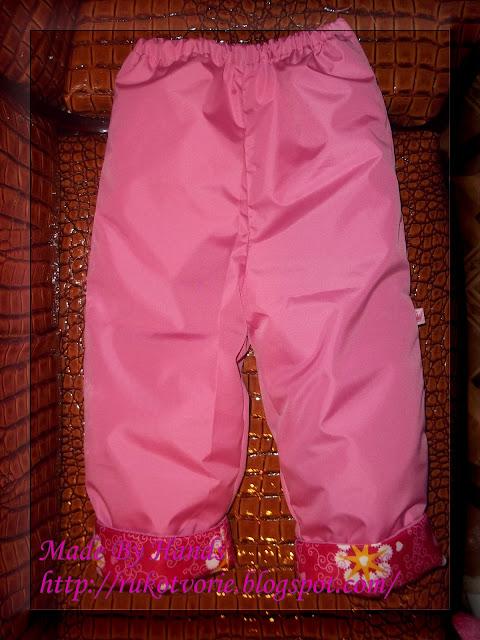 Как сшить детские штаны на резинке из плащевки 18
