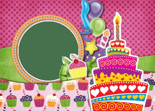 Marco con tarta de cumpleaños