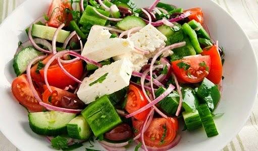 How to Make a Greek Salad, Mediterranean Diet, Greek Recipe