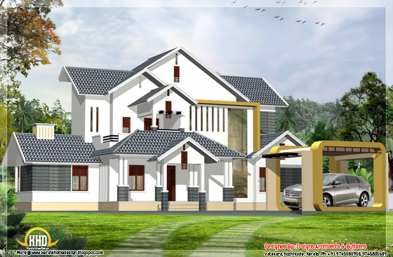 4 bedroom India contemporary home design