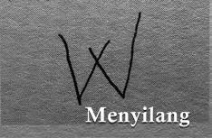 ciri orang dengan tulisan huruf w menyilang