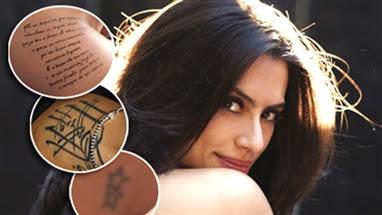 Frases, fotos e significados das Tatuagens da Cléo Pires