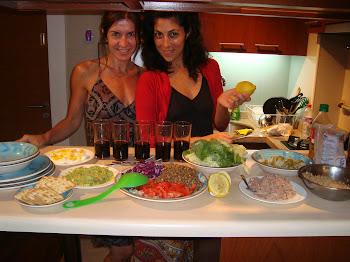 qué cena chicas!!!