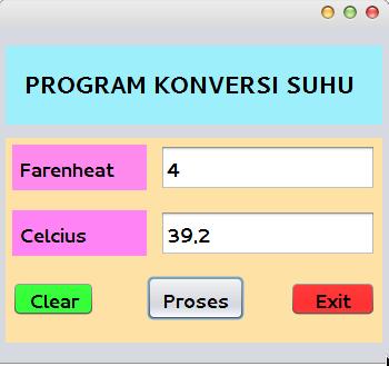 Contoh Program Java Netbeans Konversi Suhu