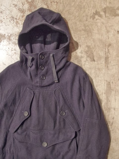 Engineered Garments Over Parka Dk.Navy 19oz All Wool Flannel