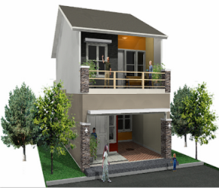 Bentuk Rumah Minimalis 2 Lantai Type 45
