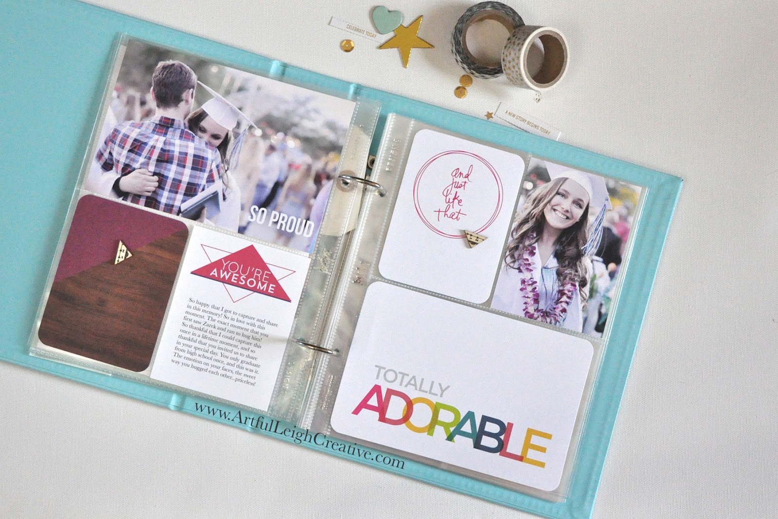 "SUPPLIES: Kellie Stamps Digital sets, ""Kiddo"", Project Life® Core Kit: Heidi Swapp Prismatic, wood veneer: Pinkfresh Studios from Clique Kits."