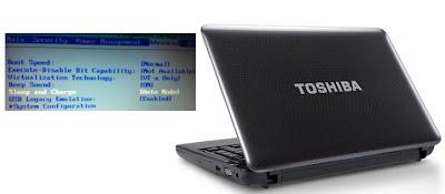 Memunculkan Kembali BIOS Notebook Toshiba Satellite