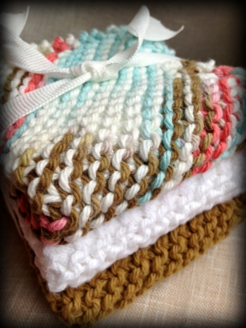 cotton knit dishcloth