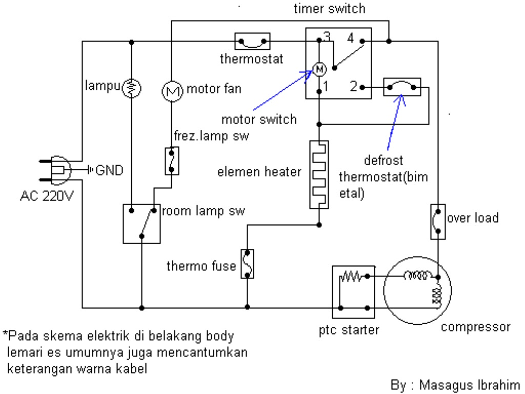 Wiring Diagram Kompresor Kulkas : Komputer july