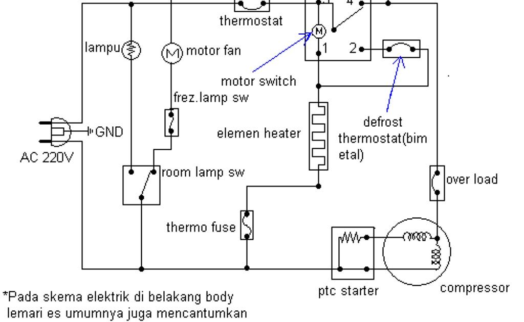 Diagram pemasangan relay kulkas images how to guide and