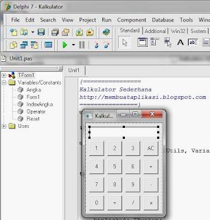 membuat kalkulator dengan delphi 7