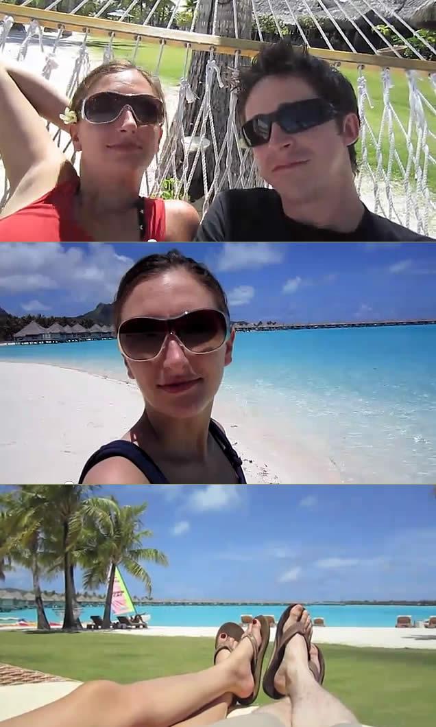 Praias Boba Bora - Casal passando momentos de relax - St. Regis Resort