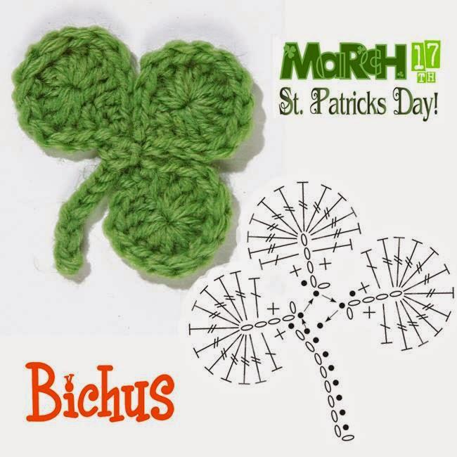 Bichus Amigurumis: Tréboles para festejar San Patricio