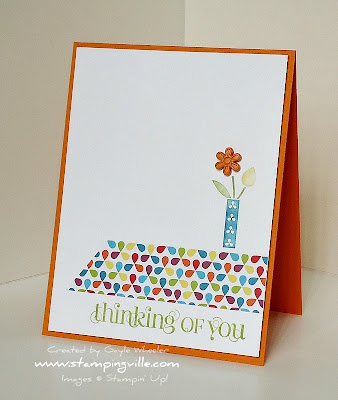 Bright & cheerful Thinking of You card idea