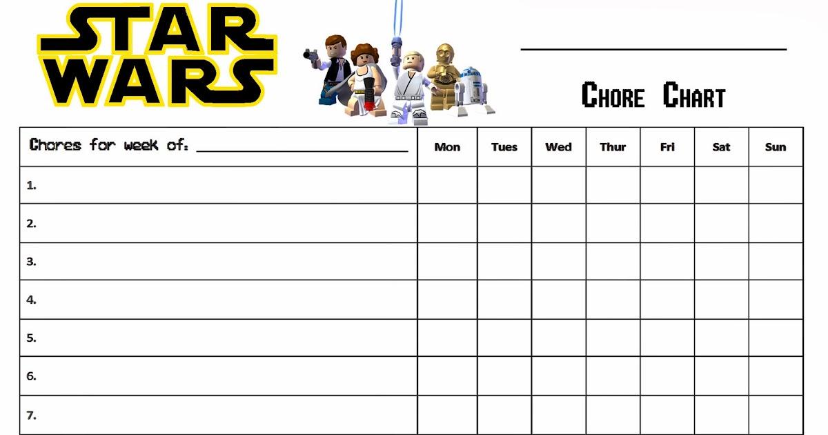 lego star wars - free printable chores chart