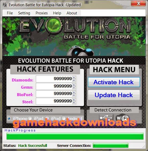 Evolution Battle for Utopia Hack