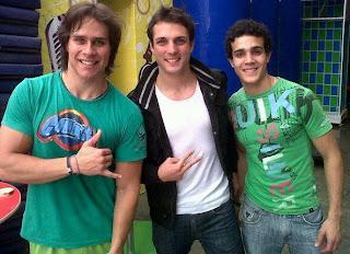 Nicola Porcella con Miguel Arce y Mario Irivarren