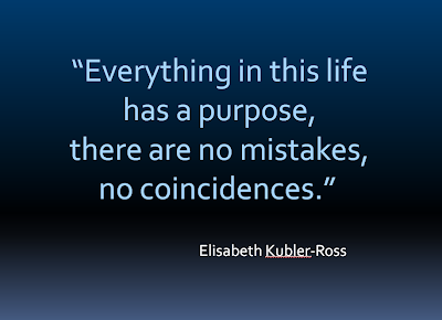 Everything in this life has a purpose, there are no mistakes, no coincidences.