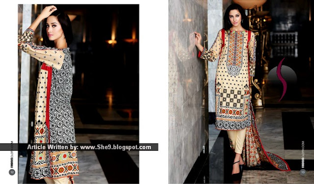 Stylish Lawn Dresses for Eid 2015