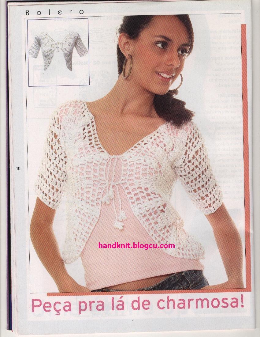 Crochet Models : free knitting pattern: free new crochet bolero models