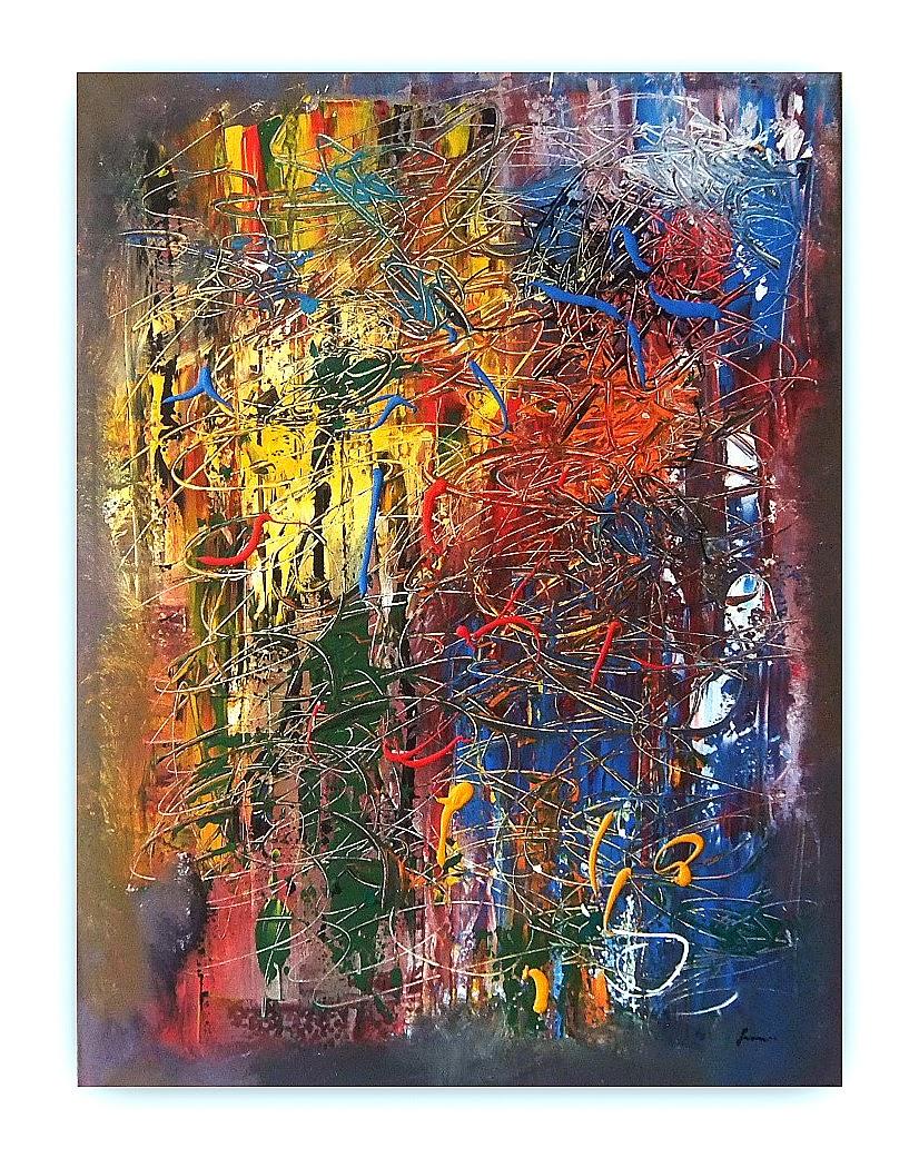 Quadri moderni astratti dipinti sanader art pittura for Ebay quadri
