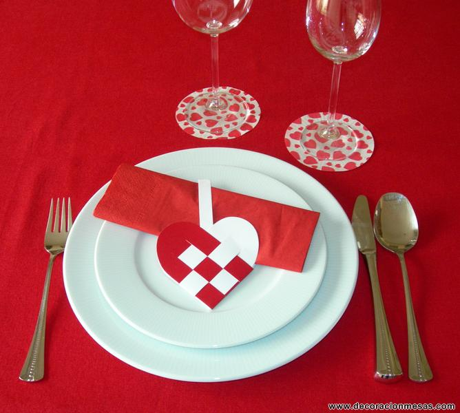 Decoracion de mesas ideas para san valentin for Ideas decoracion san valentin